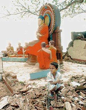 Buddha Statues that survived the Tsunami